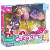 Игровой набор Cute Girl с куколкой на велосипеде, K899-13A
