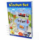 """Игровой набор """"Кухня"""" с набором посуды (свет, звук), голубой, 383-015"""