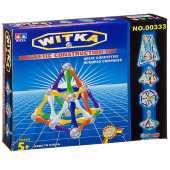 Магнитный конструктор WITKA, 36 палочек и 20   шариков  00333E