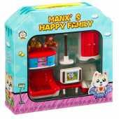 Игровой набор Manx`s Happy Family - Гостиная комната,  HY-031AE