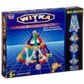 Магнитный конструктор WITKA, 24 палочки и 12  шариков  00333F