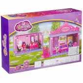 """Двухэтажный дом """"Гостиная и спальня"""" с куколками, 60312"""